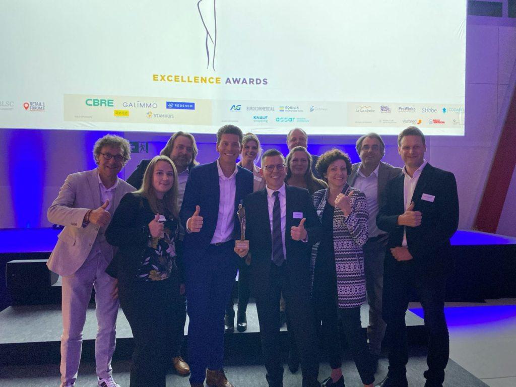 Victoire pour le Groupe Bartolas : La Couvinoise reçoit le Prix d'Excellence pour le meilleur retail park de Belgique !